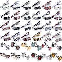 DiBanGu Men's Cufflinks Tie Clip Pin Clasp Bar Set Wedding Business Jewelry Acce