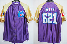 2013 Momoiro Clover Z Momokuro Baseball Jersey Shirt Purple Reni Takagi #621