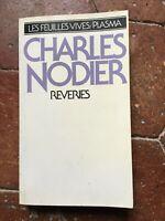 Charles Nodier Reveries Plasma Las Hojas Brillantes 1979