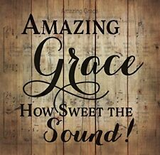 Amazing Grace Sheet Music Design 24 x 25 Wood Pallet Wall Art Sign Plaque