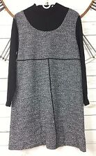 MHM Melissa Harper Womens Sweater Dress Size Large Long Sleeve Marled Stretch