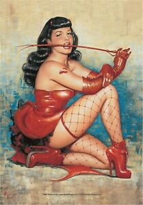 Bettie Page Don't Tred Me Large Fabric Poster/Flag 1050mm x 750mm (hr)