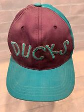 Vintage Anaheim Mighty DUCKS Hockey NHL Snapback Youth American Needle Cap Hat