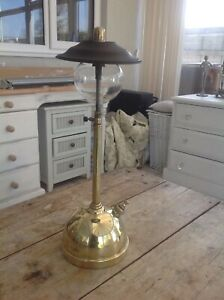 "TILLEY TABLE LAMP VINTAGE BRASS LAMP  - 23"" HIGH"