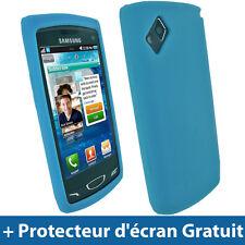 Bleu Silicone Etui pour Samsung Wave 2 S8530 Android Portable Housse Coque Case
