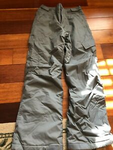 Youth Columbia Gray Snow Pants - Size L