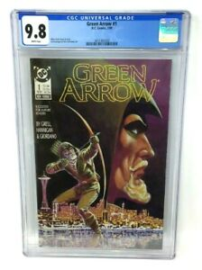 DC COMICS 1988 GRADED - GREEN ARROW 1 CGC 9.8 WHITE PAGES - MIKE GRELL COVER