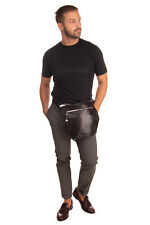 RRP €415 DIESEL BLACK GOLD LLG-FS6-5 Leather Bum Waist Bag Zipped Made in Italy
