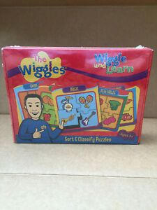 NEW SEALED the wiggles 6 x WIGGLES & LEARN PUZZLES 2007 Rare treetoys