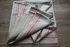 altes Rolltuch,antik Mangeltuch Leinen Mangelcloth roter Streifen,2,90 m x 0,80m