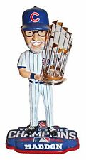 2016 World Series Champions Chicago Cubs Coach #70 J Maddon Bobblehead w/ Trophy