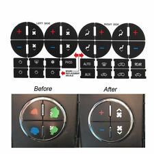 New AC Button Repair Kit For 07-13 Chevy Decal Stickers Dash Replacement