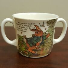 Vintage 1987 Tale of Peter Rabbit Plastic 2 Handle Drink Cup Mug Allen Atkinson
