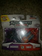 Transformers Cybertron SHOCKWAVE vs. TANKOR Mini-Con Class,New (2006) READ!!!