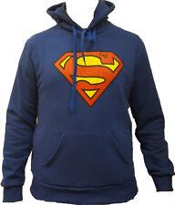 Felpa Blu  SUPERMAN LOGO  100% UFFICIALE