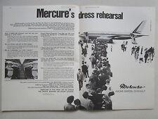 12/1969 PUB AVIONS MARCEL DASSAULT MERCURE AIRLINER PARIS AIRSHOW ORIGINAL AD