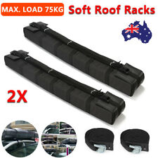 2PCS Car Roof Soft Racks Top Luggage Carrier Surf Kayak Surfboard Canoe SUP Ski