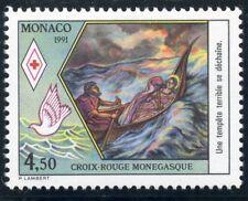 STAMP / TIMBRE DE MONACO N° 1797 ** CROIX ROUGE / VUE DE SAINTE DEVOTE