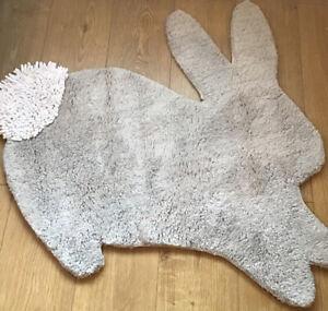 🐰 Mamas & Papas Welcome To The World Grey Rabbit / Bunny  Nursery Rug 🐰