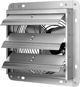 iPower 7 Inch Shutter Exhaust Fan Aluminum High Speed 1680RPM 760CFM Silver
