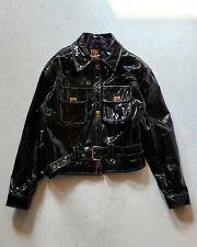 Vintage Men's Chaarms Patent Leather Jacket Belted | Sz L