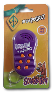 Scooby Doo in your pocket talking keyring  6 phrases Keychain