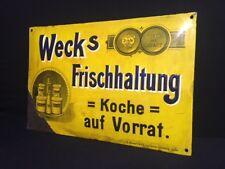 Weck´s Frischhaltung Weck - Emailleschild Emailschild  50 x 33  cm - D um 1915