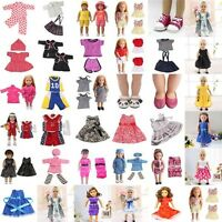Doll Pants Shoes Dress Skirt Tops for 18inch Girl Doll Toy Clothes Wear