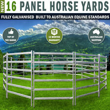 16 Panel Horse Yards Inc Gate, round Yard, Cattle Fences, Corral 11m Diameter