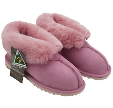 UGG SHORT BOOTS SUEDE Leather Sheepskin Grosby Princess Pink Slippers US 10
