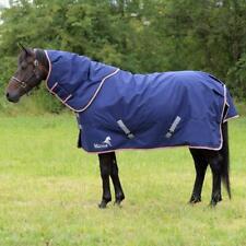 "NEW MASTA  AVANTE DUO 350 TURNOUT HORSE RUG HEAVYWEIGHT NECK NAVY BLUE 5'6"""