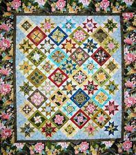 "New Pieced Quilt Pattern  KENSINGTON KALEIDOSCOPE  71""x83""  or 94""x105"""