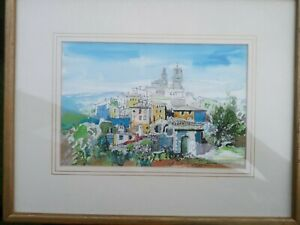 Beautiful watercolour by the artist and architect Richard Thornton Provence