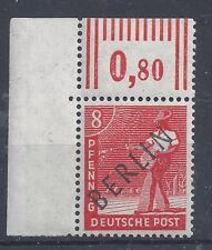Berlin Mi.-Nr.3 ** Eckrand links oben,Ecke 1 dgz. Absolut postfrisch!