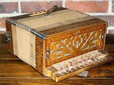 Concertone Button Box Accordion Made in Germany Good Condition Unique Vintage C1