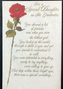 Parchment Graduation Card w/ Envelope ~ For a Special Daughter