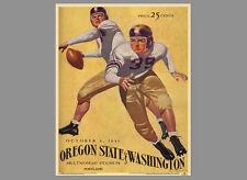 Oregon State Beavers 1941 vs. Washington Vintage Ncaa Program Cover Poster