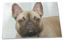 French Bulldog Extra Large Toughened Glass Cutting Chopping Board Ad-fbd2gcbl