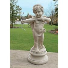"22"" Adorable Cherub Cupid with Bow and Arrow Baby Angel Home Statue Sculpture"