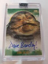 2017 Star Wars Stellar Signatures Dave Barclay as Jabba The Hut Green Auto /20