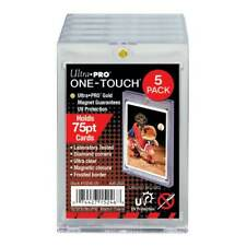 5x Ultra PRO One-Touch 75pt Magnetic Card Holders Protectors UV Protection