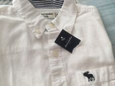 Abercrombie & Fitch / Shirt / 7-8 Years / BNWT / White  / 100% Genuine / Rrp £40