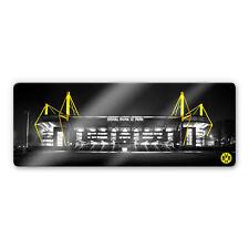 Glasbild BVB Signal Iduna Park bei Nacht schwarz