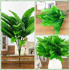 1 Pc Large Artificial Boston Fern Fake Plant Bush Leaf Leave Foliage Home Decor