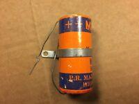NOS Vintage Mallory 500 uf 25v Paper Capacitor 1950s Guitar Tube Amp Cap TC-2505