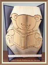 Oso de Peluche con patrón doblado Libro Arte Plegable Libro sólo #3533