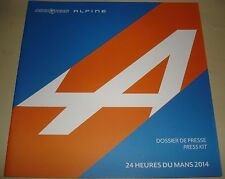 Le Mans 2014 FIA WEC - Signatech Alpine Racing AF50B Oreca 0R3 Press Media Guide