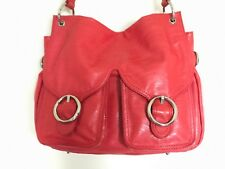 NEW OROTON TEXTURED WAVE LOLLIPOP RED JACKIE HOBO WOMENS DESIGNER BAG