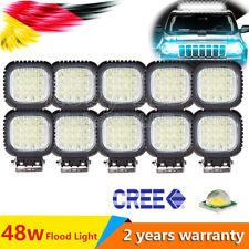 48W(2-10x) Led Luce Faro Lampada Da Lavoro Work Light Offroad 12V 24V Auto