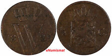 Netherlands William I Copper 1829 1/2 Cent SCARCE KM# 51
